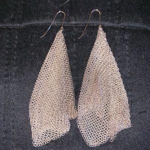 Tiffany's Elsa Peretti Mesh Scarf Earrings